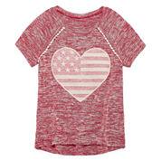 Arizona Sequin Americana Raglan Tunic - Girls' 7-16 and Plus