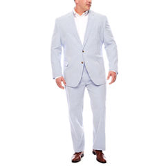 Stafford Seersucker Blue White Suit Separates-Big and Tall