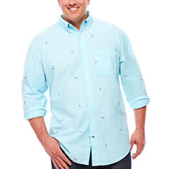 IZOD Button-Front Shirt-Big and Tall