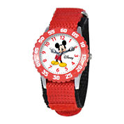 Disney Articulating Mickey Mouse Kids Time Teacher Red Watch
