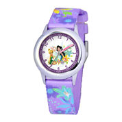Disney Kids Time Teacher Nylon Strap Fairies Watch
