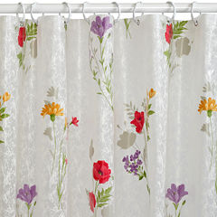 India Ink Wild Flower PEVA Shower Curtain