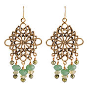 Art Smith by BARSE Aventurine & Citrine Chandelier Earrings