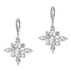 CZ by Kenneth Jay Lane Snowflake Earrings