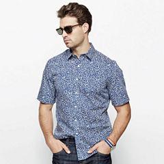 Claiborne® Short-Sleeve Printed Woven Shirt