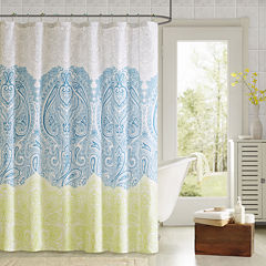90° by Design Lab Naomi Shower Curtain and Hook Set