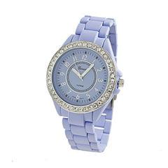 Geneva Platinum Womens Purple Bracelet Watch-2260