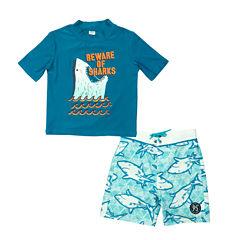 Oshkosh Shark Rash Guard Set - Toddler