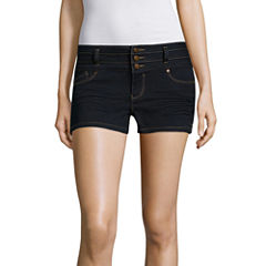 Blue Spice Denim Shorts-Juniors