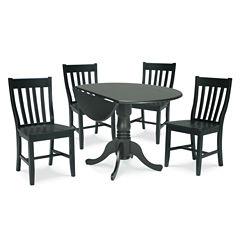 Dual Drop Leaf 5-pc. Round Dining Set