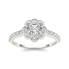 1 1/4 CT. T.W. Diamond 14K White Gold Engagement Ring