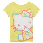 Hello Kitty® Short-Sleeve Neon Yellow Tee - Toddler Girls 2t-4t