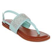 Laguna Rhinestone-Strap Sandals
