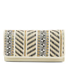 Mundi File Master Neutral Woven Accordian Wallet