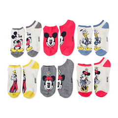 6pk Mickey N Friends No Show Socks