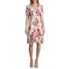 Renn Short Sleeve Floral Wrap Dress