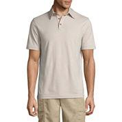 Island Shores Short Sleeve Solid Jersey Polo Shirt