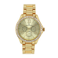 Worthington® Womens Gold-Tone Bracelet Watch