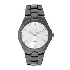 Beverly Hills Polo Club Mens Gunmetal Bracelet Watch