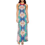 nicole by Nicole Miller® Sleeveless Print Halter Maxi Dress