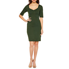Bisou Bisou Short Sleeve Sheath Dress