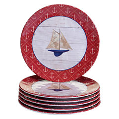 Certified International Nautique 6-pc. Salad Plate