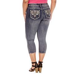 Boutique + Cropped Denim Pants-Plus