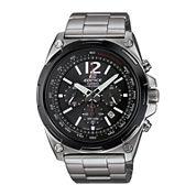 Casio® Edifice Mens Black Dial Black Stainless Steel Solar Watch EFR545SBDB-1B
