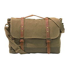 Two-Color Canvas Messenger Bag