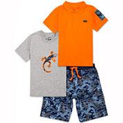 Lee® 3-pc. Camo Short Set - Toddler Boys 2t-5t
