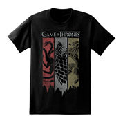 Game of Thrones Torn Banners Short-Sleeve Graphic Tee