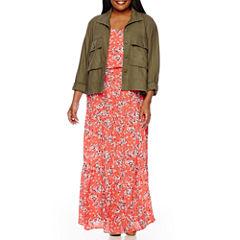 Boutique+ Military Jacket or High-Low Hem Dress - Plus