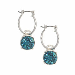 Gloria Vanderbilt Blue Hoop Earrings