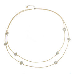 Monet Jewelry Womens White Strand Necklace
