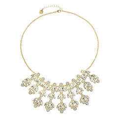 Monet Jewelry White Statement Necklace