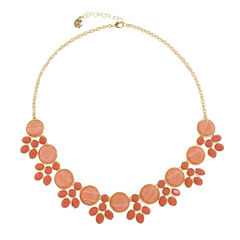 Monet Jewelry Orange Statement Necklace