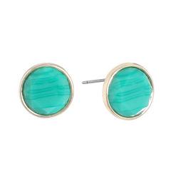 Monet Jewelry Green Stud Earrings