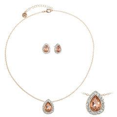 Monet Jewelry Womens 2-pc. Orange Jewelry Set