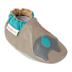 Momo Baby Playful Elephant Boys Crib Shoes-Baby