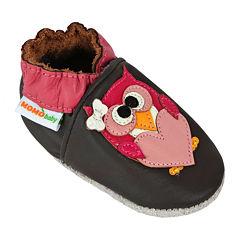 Momo Baby Pretty Owl Girls Crib Shoes-Baby