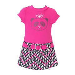 Lilt Short Sleeve Drop Waist Dress - Toddler Girls