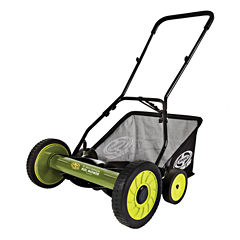 Sun Joe 18-Inch Manual Reel Mower with Grass Catcher
