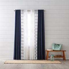 JCPenney Home Quinn & Bayview Sheer Grommet-Top Curtain Panels