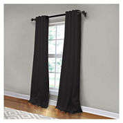 JCPenney Home Made-To-Length Linen Grommet-Top Unlined Curtain Panel