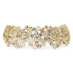 Monet® Gold-Tone & Glass Stretch Bracelet