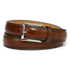 Stafford® Feather-Edge Belt with Stitch–Big & Tall
