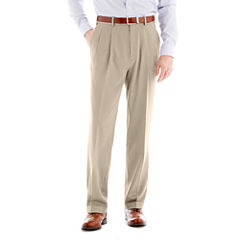 Stafford® Travel Endurance Pleated Dress Pants