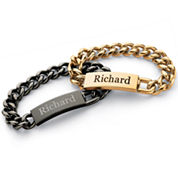 Personalized Mens Stainless Steel Name Bracelet