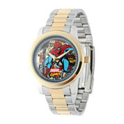 Marvel® Spider-Man® Mens Two-Tone Stainless Steel Watch