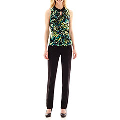 Worthington® Ruched Keyhole Halter-Neck Top or Wide-Waistband Pants